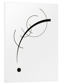Foam board print  Free curve to the point - Wassily Kandinsky