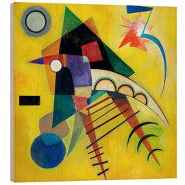 Wood print  White point - Wassily Kandinsky