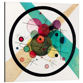 Alu-Dibond  Circles in a circle - Wassily Kandinsky