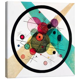 Canvas print  Circles in a circle - Wassily Kandinsky