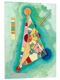 Foam board print  Stained in triangle - Wassily Kandinsky