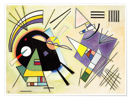 Premium poster  Black and purple - Wassily Kandinsky