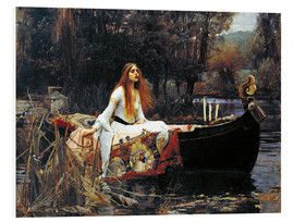 Foam board print  The Lady of Shalott - John William Waterhouse