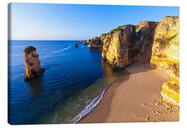 Canvas  Beach near Lagos in the Algarve - Dieterich Fotografie