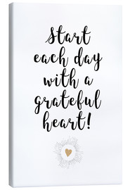 Canvas print  Grateful heart - Ohkimiko