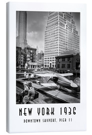 Canvas print  Historical New York, Downtown Skyport, Pier 11 - Christian Müringer