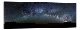 Acrylic print  Panoramic of the Milky Way arch, United States - Matteo Colombo