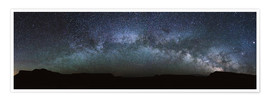 Poster  Panoramic of the Milky way arch in the sky, United States - Matteo Colombo