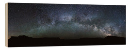 Wood print  Panoramic of the Milky Way arch, United States - Matteo Colombo