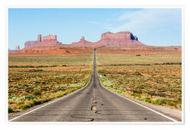 Premium poster US route 163 leading to Monument Valley, Arizona, USA
