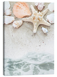 Canvas print  Sea Beach with Starfish