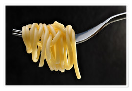 Poster  Spaghetti on a fork