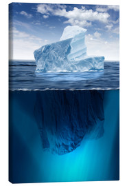 Canvas  Iceberg in the ocean