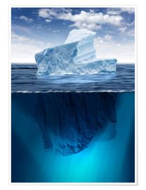 Premium poster  Iceberg in the ocean