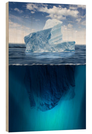 Wood print  Iceberg in the ocean