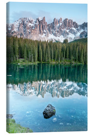 Canvas print  Karersee (Lago di Carezza)