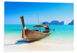 Foam board print  Long boat in Thailand