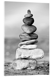 Acrylic print  Pebble tower