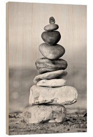 Wood print  Pebble tower