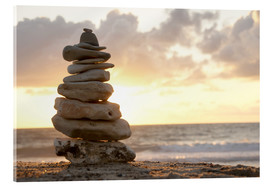 Acrylic print  Little tower of pebbles