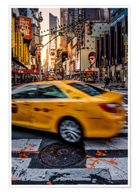 Premium poster Yellow Cab New York