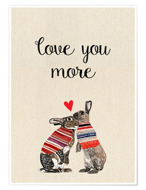 Premium poster Love you more