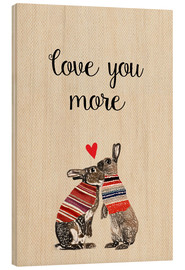 Wood  Love you more - GreenNest