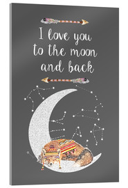 Acrylic glass  I love you to the moon and back - GreenNest