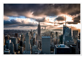 Premium poster Stormy day New York