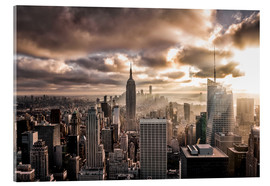 Acrylic print  Sunset New York - Sören Bartosch