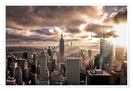 Premium poster Sunset New York