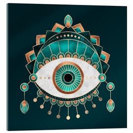 Acrylic glass  Teal Eye - Elisabeth Fredriksson