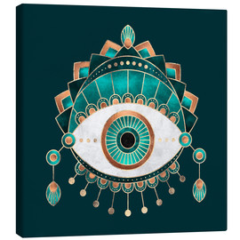 Canvas print  Teal Eye - Elisabeth Fredriksson