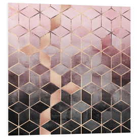 Forex  Pink And Grey Gradient Cubes - Elisabeth Fredriksson