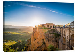 Canvas print  Ronda at the sunset - Salvadori Chiara