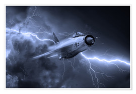 Premium poster  Lightning Power Mono - airpowerart