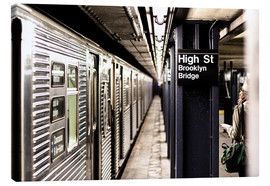 Canvas  New York City Subway, High Street, Brooklyn - Sascha Kilmer