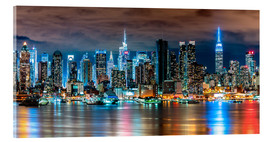 Acrylic print  Midtown Skyline by Night, New York - Sascha Kilmer