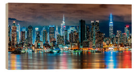 Wood  Midtown Skyline by Night, New York - Sascha Kilmer