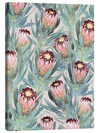 Canvas print  Pale Painted Protea Neriifolia - Micklyn Le Feuvre