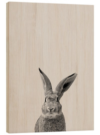Wood print  Follow the rabbit - Finlay and Noa