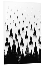 Foam board print  Black mountain peaks - Robert Farkas