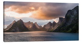 Canvas  Lofoten Evening Atmosphere, Moskenes, Reine, Norway - Markus Ulrich
