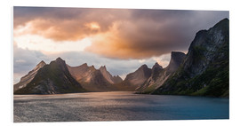Foam board print  Lofoten Evening Atmosphere, Moskenes, Reine, Norway - Markus Ulrich