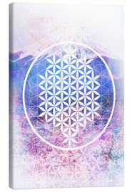 Canvas print  Flower Of Life  - Moon Berry Prints