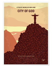 Premium poster No716 My City of God minimal movie poster