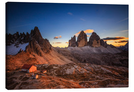 Canvas  Three Peaks Dolomites - Muharrem Ünal