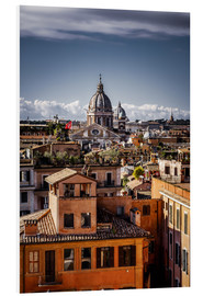 Foam board print  Over the roofs of Rome, Italy - Sören Bartosch