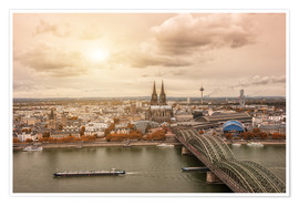 Premium poster  Cologne Autumn View - rclassen