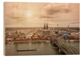 Wood print  Cologne Autumn View - rclassen